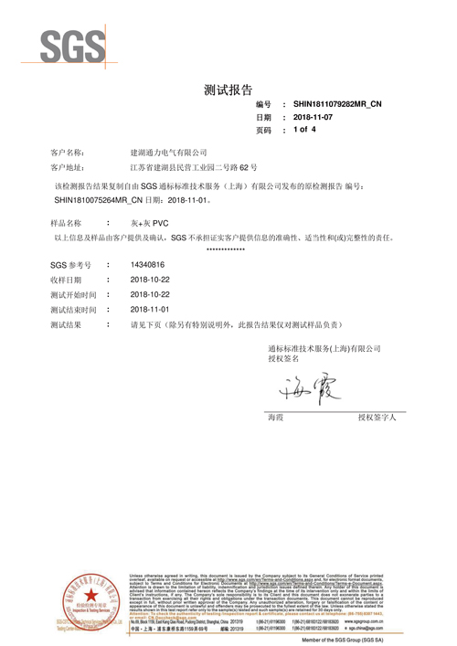Flame retardant testing report